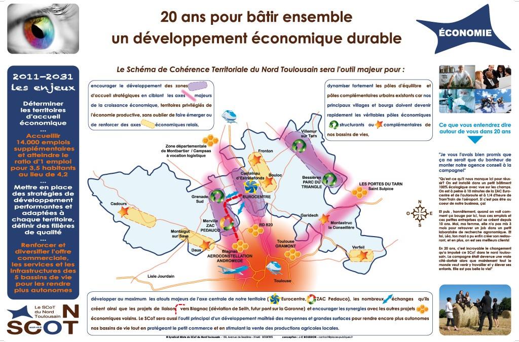 Conception d'une exposition publique pour le SCoT du Nord Toulousain