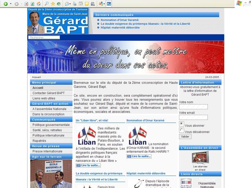 Création du site web d'un député de Haute Garonne