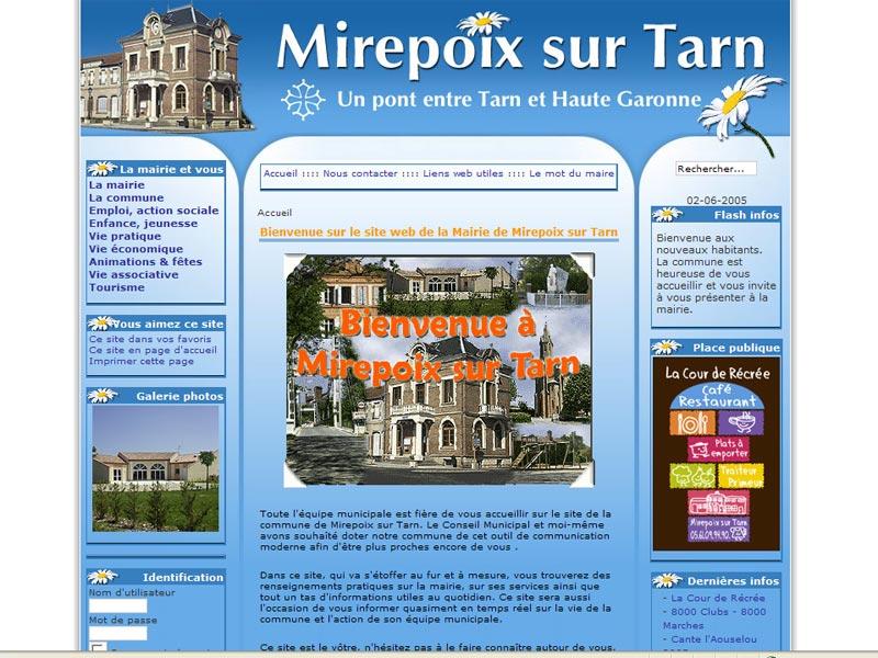 Création du site web de la commune de Mirepoix sur Tarn