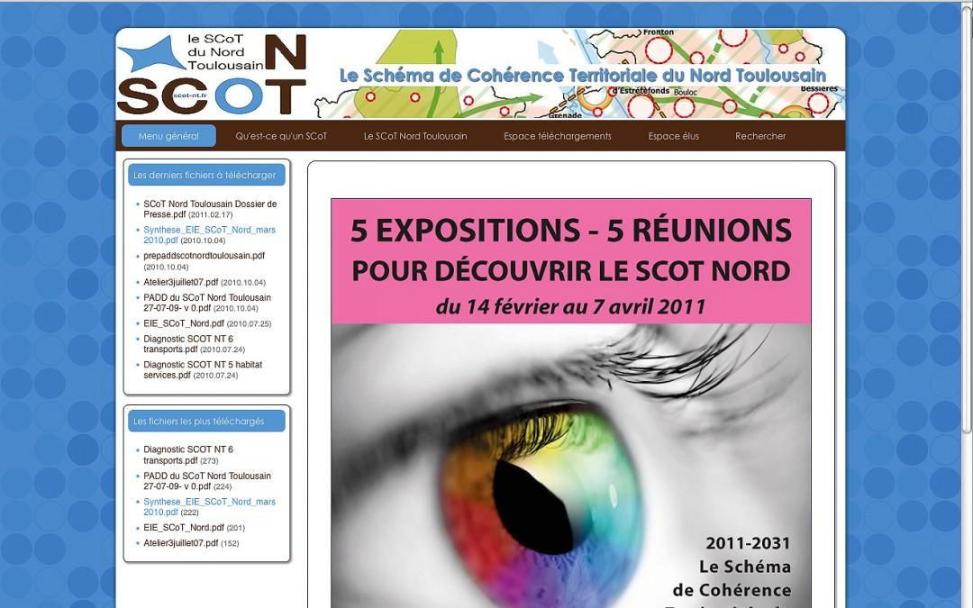 Création du site web du SCoT du Nord Toulousain