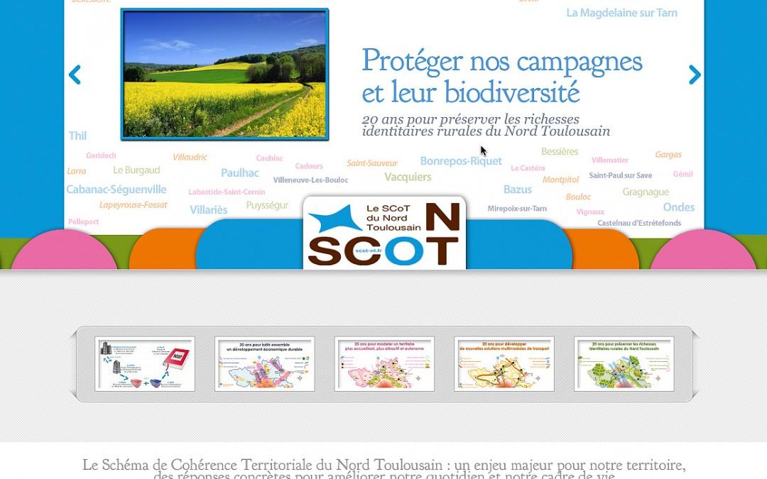 Un nouveau look pour le site web du SCoT du Nord Toulousain